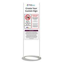 Custom Print Floor Stand 1800mm - Custom Sign 450mm x 1100mm
