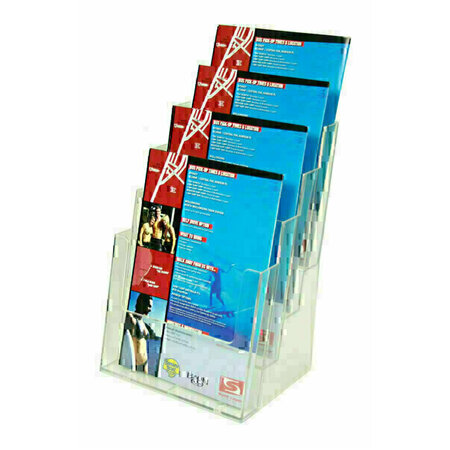 A4 Brochure Holder Counter Four Tier
