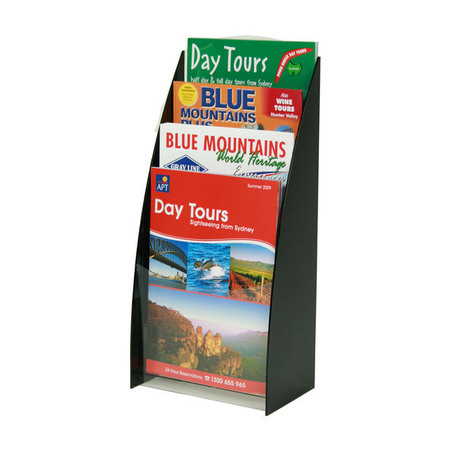 A4 Black Four Tier Counter Brochure Holder