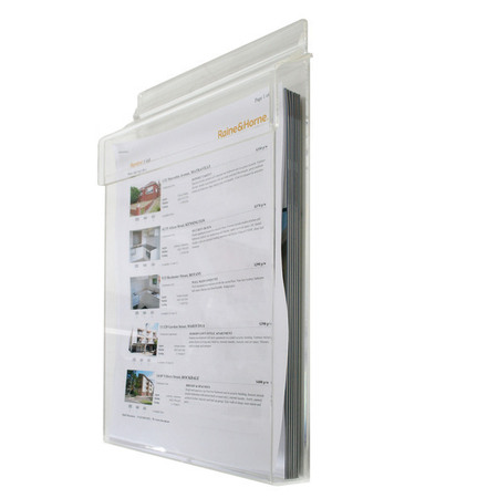 A4 Outdoor Hinged Wall Brochure Holder