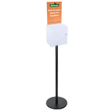 Premium Black Clear Freestanding Suggestion Box A4