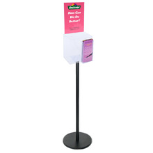 Premium Black Clear Freestanding Suggestion Box A4 + DL