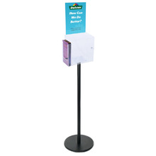 Premium Black Clear Freestanding Suggestion Box A4 + DL Side