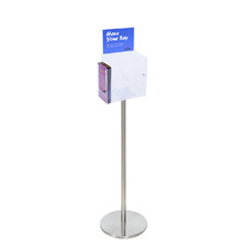 Premium Acrylic Clear Freestanding Suggestion Box A5 + DL Side