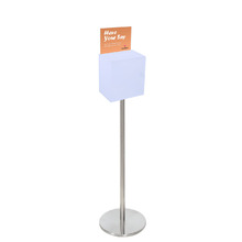 Premium Acrylic Frosted Freestanding Suggestion Box A5