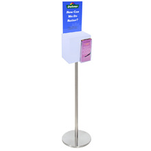 Premium Acrylic Frosted Freestanding Suggestion Box A4 + DL