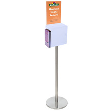 Premium Acrylic Frosted Freestanding Suggestion Box A4 + DL Side