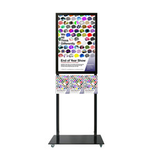 Tall Info Stand -  A1 Snap Frame with 3 A4 Brochure Holders Double Sided