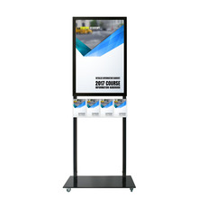 Tall Info Stand -  A1 Snap Frame with 4 A5 Brochure Holders Double Sided