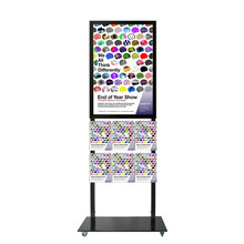 Tall Info Stand -  A1 Snap Frame with 6 A4 Brochure Holders Double Sided