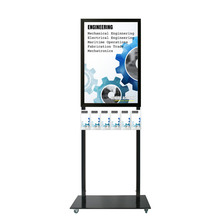 Tall Info Stand -  A1 Snap Frame with 6 DL Brochure Holders Double Sided