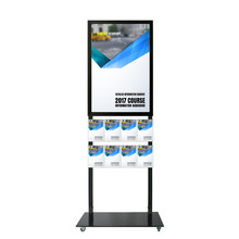Tall Info Stand -  A1 Snap Frame with  8 A5 Brochure Holders Double Sided