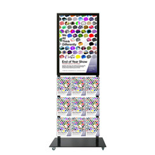 Tall Info Stand -  A1 Snap Frame with  9 A4 Brochure Holders Double Sided