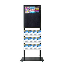 Tall Info Stand - 1 Felt Board with 12 A5 Brochure Holders