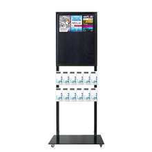 Tall Info Stand - 1 Felt Board with  12 DL Brochure Holders Double Sided