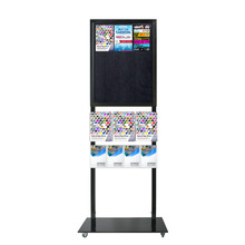 Tall Info Stand - 1 Felt Board with  3 A4 + 4 A5 Brochure Holders