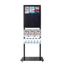 Tall Info Stand - 1 Felt Board with  3 A4 + 6 DL Brochure Holders Double Sided