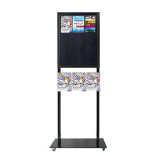 Tall Info Stand - 1 Felt Board with  3 A4 Brochure Holders Double Sided