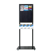 Tall Info Stand - 1 Felt Board with  4 A5 Brochure Holders Double Sided