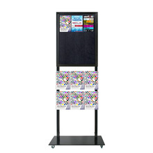 Tall Info Stand - 1 Felt Board with  6 A4 Brochure Holders Double Sided