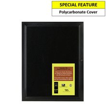 Black Magnetic 4A4 Notice Board