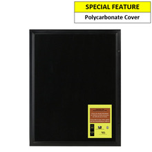 Black Magnetic 9A4 Notice Board
