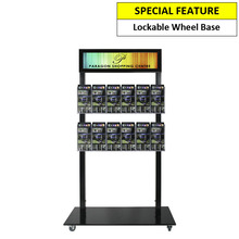 Black Mall Stand - Header and 12  DL Brochure Holders