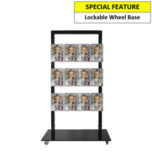 Black Mall Stand - Header and 12 A5 Brochure Holders