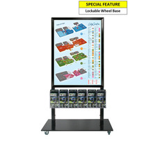 Black Mall Stand - A1 Snap Frame with 6 DL Brochure Holders