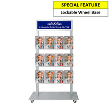 Silver Mall  Stand - Snap Header with 12 A5 Brochure Holders Double Sided