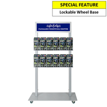 Silver Mall  Stand - Snap Header with 12 DL Brochure Holders Double Sided