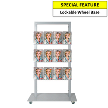 Silver Mall  Stand - Snap Header with 15 A5 Brochure Holders