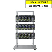 Silver Mall  Stand - Snap Header with 18 DL Brochure Holders Double Sided
