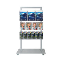 Silver Mall Stand - with 3A4, 4A5, 6DL Double Sided