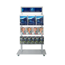 Silver Mall Stand - Snap Header with 3A4, 4A5, 6DL Double Sided