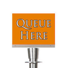QUEUE ROPE A5 Silver Euro Landscape Sign