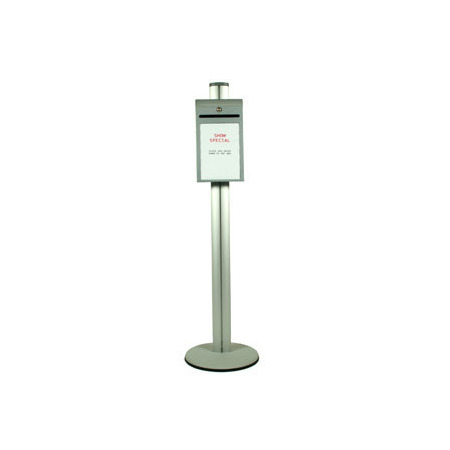 Pole 1450 mm high. Free standing suggestion box Single Sided
