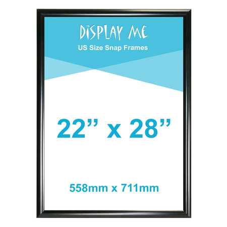 22 x 28 Inch Black Snap Frames (711 x 559mm)