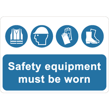 Safety Equipments Must Be Worn