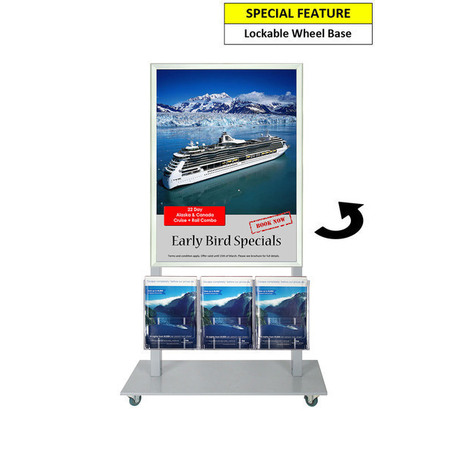 Silver Mall Stand - A1 Snap Frame with 3 A4 Brochure ...