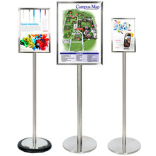 Ezi Pole Vertical Stainless Steel Sign
