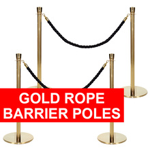 Gold Barrier Poles