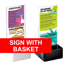 Sign With Basket
