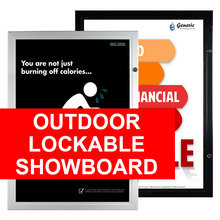 Outdoor  Lockable Showboard