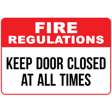 Fire Rules Signs