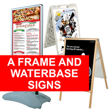 A Frame and Water Base Signs