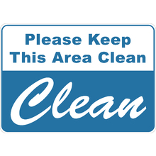 Clean Area Signs