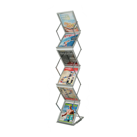 Portable Expandable Brochure Holder Holds 6 A4