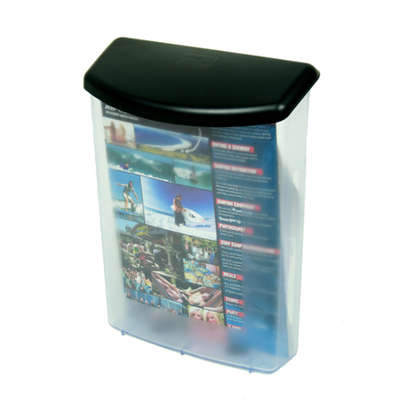 A4 Wall Outdoor Brochure Holder Case with Black Lid