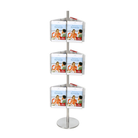 Stainless Steel Carousel Holds 18 A4